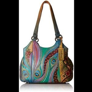 Anuschka hand painted leather bag